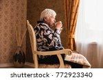 older single disabled woman...   Shutterstock . vector #772923340