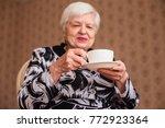 older single disabled woman...   Shutterstock . vector #772923364