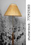 floor lamp in front of a moldy...   Shutterstock . vector #772925383