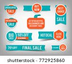 set of banner elements  vector... | Shutterstock .eps vector #772925860