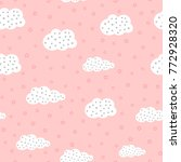 cute seamless pattern for... | Shutterstock .eps vector #772928320