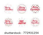 merry christmas vector text... | Shutterstock .eps vector #772931254