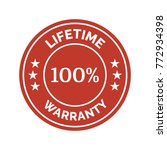 lifetime warranty flat badge on ... | Shutterstock .eps vector #772934398