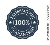 satisfaction guaranteed flat... | Shutterstock .eps vector #772934404