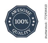 awesome quality flat badge on... | Shutterstock .eps vector #772934410