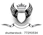 heraldry elements with wings... | Shutterstock .eps vector #77293534
