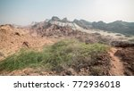 Colored Desert Mountains With...