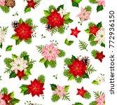vector christmas seamless...   Shutterstock .eps vector #772936150