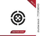 target vector icon isolated on... | Shutterstock .eps vector #772938043