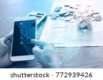 business technology people are... | Shutterstock . vector #772939426