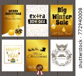 a set of posters for the design ... | Shutterstock .eps vector #772940008