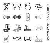 set of 16 bodybuilding outline