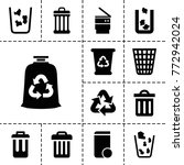 recycling icons. set of 13...   Shutterstock .eps vector #772942024