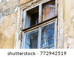 an old window with wooden frame ... | Shutterstock . vector #772942519