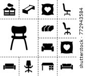 comfortable icons. set of 13... | Shutterstock .eps vector #772943584