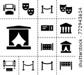 theater icons. set of 13... | Shutterstock .eps vector #772943614