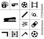 tape icons. set of 13 editable... | Shutterstock .eps vector #772943644