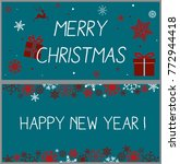 christmas background with gift... | Shutterstock .eps vector #772944418