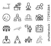 set of 16 person outline icons... | Shutterstock .eps vector #772951864