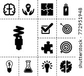 solution icons. set of 13... | Shutterstock .eps vector #772951948