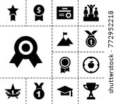 achievement icons. set of 13... | Shutterstock .eps vector #772952218