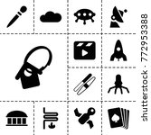 Space Icons. Set Of 13 Editabl...