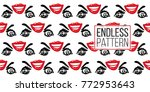woman inlove vector emoticons ... | Shutterstock .eps vector #772953643