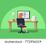 vector illustration in flat... | Shutterstock .eps vector #772956319