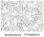 background illustration hand... | Shutterstock .eps vector #772960414