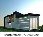 3d design   modern villa  ... | Shutterstock . vector #772961920