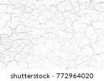 eps10 vector white crackle... | Shutterstock .eps vector #772964020