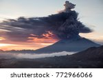 eruption of mount agung bali | Shutterstock . vector #772966066