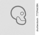 skull vector icon eps 10. | Shutterstock .eps vector #772966384