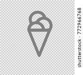ice cream vector icon esp 10. | Shutterstock .eps vector #772966768