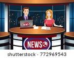 a vector illustration of tv... | Shutterstock .eps vector #772969543