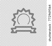 badge with ribbon vector icon... | Shutterstock .eps vector #772969564
