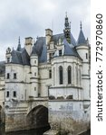 Small photo of CHENONCEAU, FRANCE - SEPTEMBER 4, 2017: Medieval Chateau de Chenonceau (1522) spanning River Cher in Loire Valley in France. Chenonceau is second only to Versailles as most visited chateau in France.