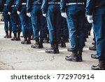 military men in blue dress...   Shutterstock . vector #772970914