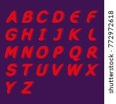 modern linear typographic... | Shutterstock .eps vector #772972618