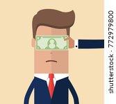 hand with cash money dollar...   Shutterstock .eps vector #772979800