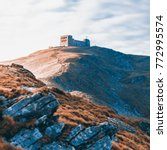 Small photo of The old observatory on Mount Pip Ivan in Carpathians. Ukraine