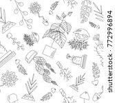 seamless texture of houseplants | Shutterstock .eps vector #772996894