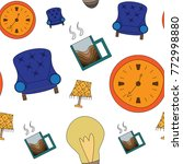 seamless texture of accessories ... | Shutterstock .eps vector #772998880