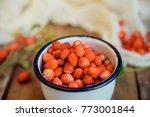 Fresh Wild Strawberries In A...