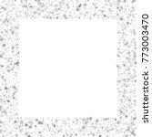 sparkling silver stars frame or ...   Shutterstock .eps vector #773003470