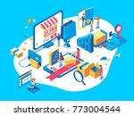 electronic commerce concept... | Shutterstock .eps vector #773004544