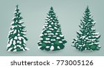 snow trees set on isolated...   Shutterstock .eps vector #773005126