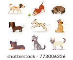 cartoon dogs of different... | Shutterstock .eps vector #773006326