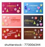 vector christmas sale banner... | Shutterstock .eps vector #773006344