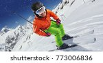 winter sport. skier in... | Shutterstock . vector #773006836